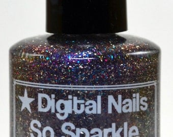 So Sparkle: a supa sparklefest of a nail lacquer inspired by Doge, brought to you by Digital Nails