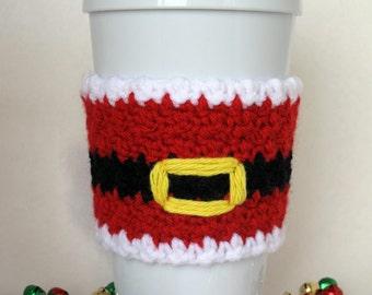 Crochet Santa Claus Coffee Cup Cozy