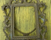 "Antique picture frame gilt bronze 1920s large vintage Victorian picture frame 12"" x 9"""