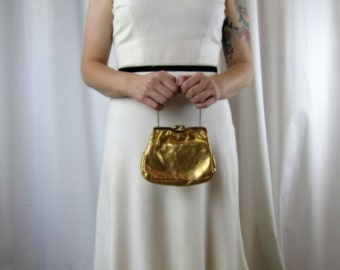 Vintage Handbag   Gold Opera Bag   1950s