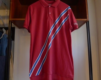 Vintage ASF Polo Shirt collared dress shirt formal short sleeve striped