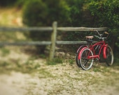 Bicycles Photograph, Beach House Decor, Landscape Travel Photography, Preppy, Modern Vintage Decor, Color Fine Art Photography Wall Print