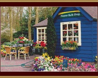 Flower Bulb Shop Cross Stitch Pattern