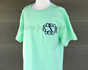 Girls Monogrammed T-shirts, Monogram T-shirt, Girls T-Shirt, Monogrammed Shirt, Girls Monogram, Monogrammed Shirt, Girls Shirt, Monogram