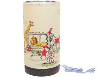 Accent Lamp Mood Lighting Nursery Lamp Alexander Henry Circus! Circus! Made to Order