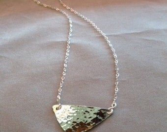 Large Triangle Necklace, Handcrafted Jewelry