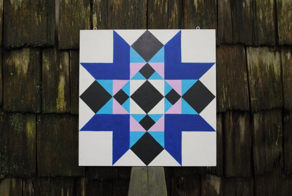 Church Window Barn Quilt Square painted on wood