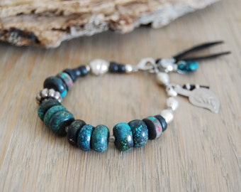 bohemian bracelet - gypsy bracelet - turquoise bohemian bracelet - boho - yoga jewelry