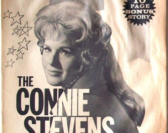 CONNIE STEVENS ~ Hawaiian Eye, 77 Sunset Strip, Grease 2, Sixteen Reasons ~ B&W 16-Page Booklet from 1962