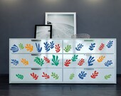 """Furniture pattern inspired by Henri Matisse's """"La Gerbe"""" vinyl decals for your decor hack - ideal for dressers, IKEA closets, cabinets etc"""
