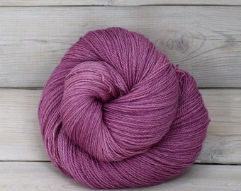 Starbright - Hand Dyed Bluefaced Leicester Silk Heavy Lace Light Fingering Yarn - Colorway: Radiant Orchid