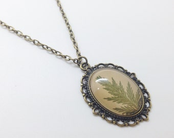rustic wedding, bridesmaid gift, nature jewelry, fern necklace, real leaf pendant, fern jewelry, green cameo, leaf necklace, unique necklace