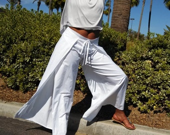 Wide Leg Cotton Wrap Pants / Beach / Resort / Lounge Pants, Casual Summer Pants -Size 0 To 22