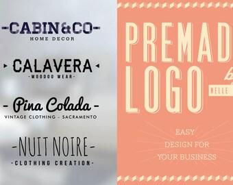 Premade Logo Design Branding Watermark Custom Logo Template