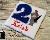 Knight Birthday Shirt - Boys Birthday - Knight And Shining Armor - Prince - Monogrammed Birthday Shirt