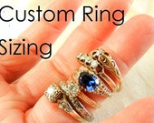 Ring Sizing For White or Yellow Gold Rings, Custom Ring Sizing Order