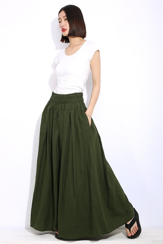 Free shipping 17% OFF PU Leather Pleated Maxi Skirt in ARMY GREEN L with only $ online and shop other cheap Skirts on sale at hereyfiletk.gq