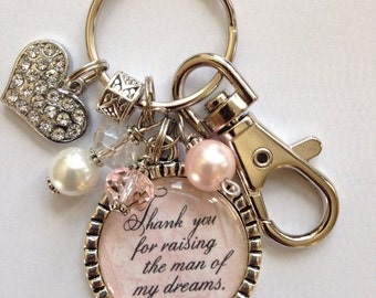 Personalized Mother of the Groom Gift, Thank you for raising the man of my dreams, keychain daughter in law mother in law beautiful