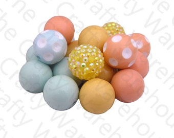 Easter Chunky Bead Set | 18 Pieces | Fall Chunky Beads Kit | 20mm | Gumball Beads | DIY Chunky Necklace | M2M Matilda Jane Bead Set 3