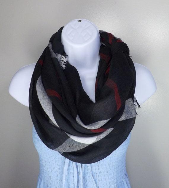 Designer Plaid Black Light Women Linen Scarf, All season fashion light lady scarf 2014