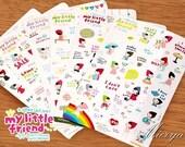 Little Red Sticker Set - Korean Stickers - Diary Sticker - Deco Sticker - DIY Sticker - 6 sheets