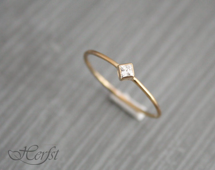 14 k diamante s lido anillo anillo de por goudsmederijherfst. Black Bedroom Furniture Sets. Home Design Ideas