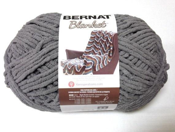 Bernat Blanket Yarn Dark Grey Large Skein By