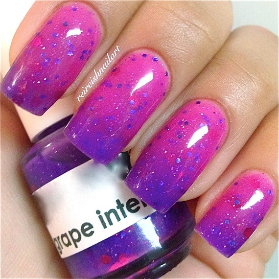 Grape IntentionsColor Changing Thermal Nail Polish: