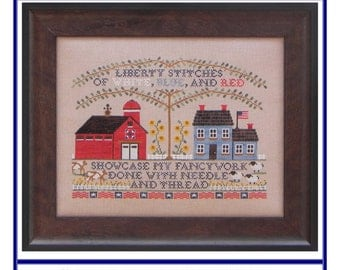Liberty Stitchery (BRD-095) Cross Stitch Design
