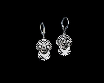 Portuguese Water Dog earrings - sterling silver