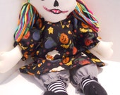 Zombie Raggedy Doll Halloween Art Doll