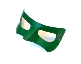 Green Lantern Leather Mask Cosplay Super hero Halloween Costume Masquerade Party Superheroes DC Comics Ryan Reynolds Film 2011