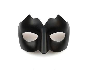 Leather Mask Male Black Men Man Geometric Domino Masculine Masquerade Bachelor Party Carnival Mardi gras Halloween Bridal Weddings Bandit