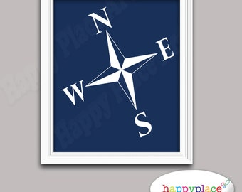 Navy Blue Pirate Prints 8x10 or 11x14in. Digital File for Instant Download. Suit Boys' Bedroom, or Nursery Art. Message for Custom Requests.