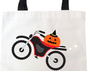 Trick or Treat Bags Kids Halloween Trick or Treat Bags with Dirtbike