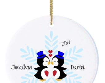 Personalized Christmas Ornaments ...Gay Couple , 1st Christmas as Mr. and Mr.