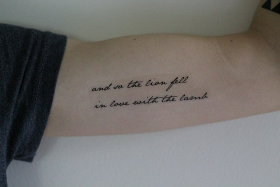 Twilight quote and so the lion temporary by for Twilight jacob tattoo temporary