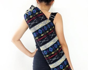 Handmade Yoga Mat Bag Yoga Bag Sports Bags Tote Yoga Sling bag Pilates Bag Pilates Mat Bag Woven Yoga Bag Women bag Woven Cotton bag (WF20)