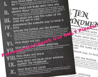 10 Commandments Digital Printable