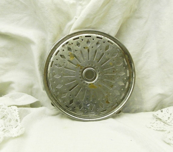 Antique French Metal Trivet / Hot Plate / Heat Mat, Country Cottage Kitchenware, Shabby Chateau Chic Decor from France, Brocante Fleamarket