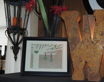 First Anniversary Gift, Unique Wedding Gift, First Dance Song Lyrics, Wedding Tree, 1st Anniversary Paper Gift, Wedding Vows, Framed Art
