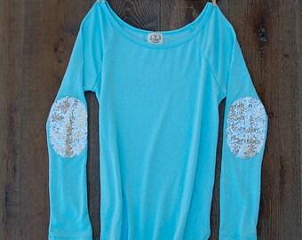 Sequin Chevron Arrow Design Tee T Shirt The Dazzle Me