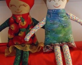 Cute and cuddly rag dolls