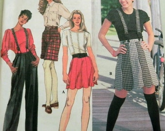 "1990s Shorts, Pants and Suspenders sewing pattern Simplicity 9516 Size 16-18-20 Bust 38 40 42"" UNCUT"