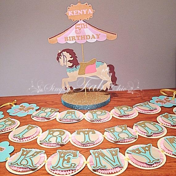 Happy Birthday Banner Carousel Theme / Circus Theme For A
