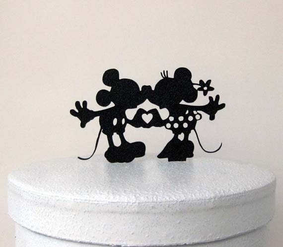 mickey and minnie silhouette wedding cake topper wedding cake topper mickey and minni silhouette wedding 17345