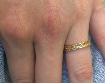 Gold Size Seven Ring