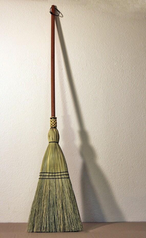 Shaker Floor Broom - Hand Made - 100% Broom Corn - Traditional Woven ...