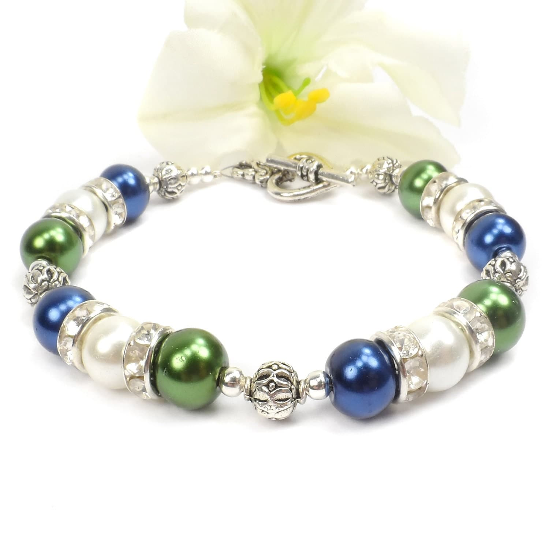 pearl birthstone bracelet pearl mothers bracelet gift for