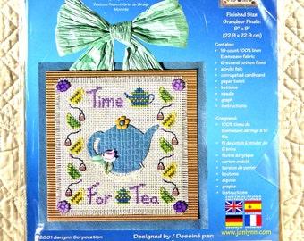 Teapot, Cross Stitch Craft Kit, Janlynn 57-206, Felt Like Stitchin, Time For Tea, 9 x 9